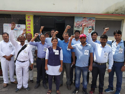Protest in Gorakhpur lobby