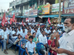 Motherson workers on strike