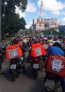 Delivery workers in Recife, Pernambuco